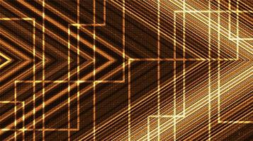 tecnología de línea de circuito dorado sobre fondo futuro, diseño de concepto digital y de comunicación de alta tecnología, espacio libre para texto en el lugar, ilustración vectorial. vector
