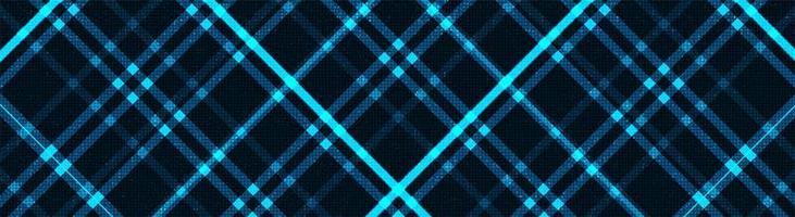 Fondo de tecnología de luz cibernética panorámica, diseño de concepto seguro y digital de alta tecnología, espacio libre para texto en el lugar, ilustración vectorial. vector