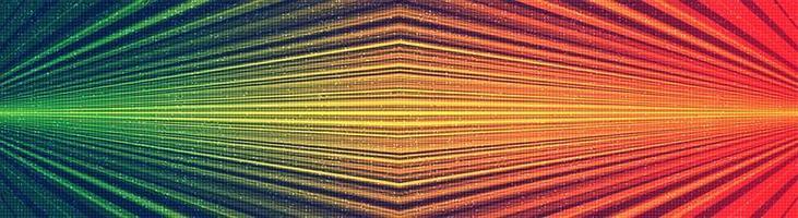 Fondo de tecnología de luz de velocidad de panorama, diseño de concepto digital y vintage, ilustración vectorial. vector