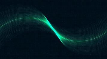 Fondo de tecnología de luz agitando, diseño de concepto de onda de sonido y digital de alta tecnología, espacio libre para texto, ilustración vectorial. vector