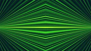 Fondo de tecnología láser verde, diseño de concepto digital y de conexión, ilustración vectorial. vector
