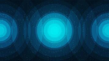 Fondo de tecnología de círculo digital abstracto, diseño de concepto de comunicación y digital de alta tecnología, espacio libre para texto, ilustración vectorial. vector