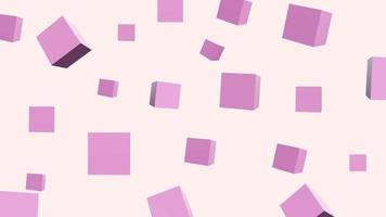 Abstract 3 D Pattern Box Pink Background