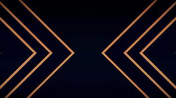 patrón abstracto triángulo dorado fondo de lujo video