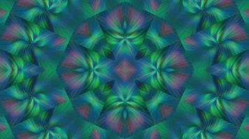 ornement de kaléidoscope vert video