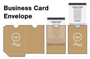card envelope die-cut template mockup vector