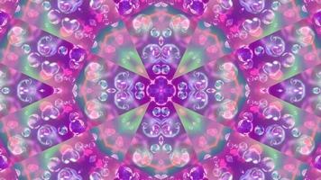 Neon Pink Iridescent Kaleidoscope