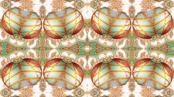 Yellow Kaleidoscope Background