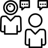 icono de línea para video chat