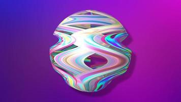 fundo gradiente roxo abstrato com esfera de arco-íris