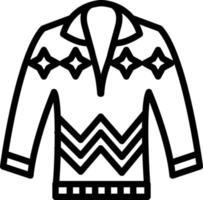 Line icon for pullove vector