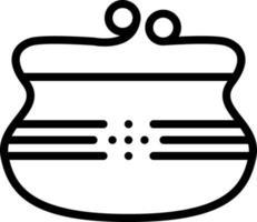 Line icon for purse vector