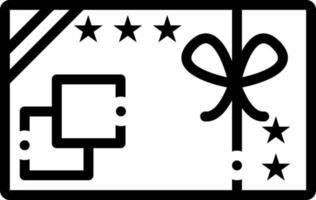 icono de línea para tarjeta de regalo vector