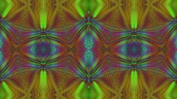 Abstract Rainbow Neon Kaleidoscope Background video
