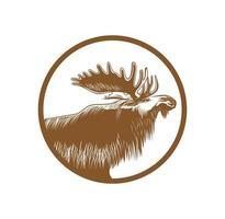 Realistic moose head design illustration vector