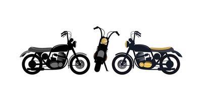 Ilustración de diseño de motocicleta vintage retro vector