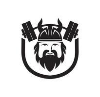 diseño de personajes de barra vikinga vector