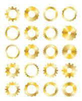 Golden Gear set vector