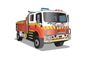 Fire rescue truck cartoon design vector