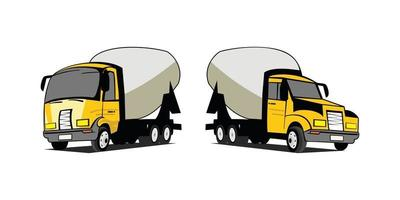 Cartoon illustration concrete trucks design illustration vector