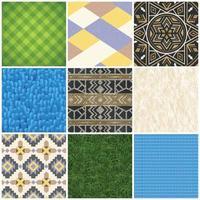 textura de suelo de alfombra realista establece ilustración vectorial vector