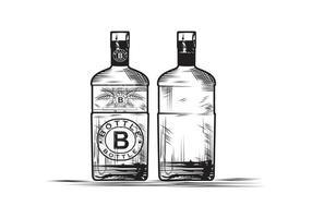 Ilustración de diseño de boceto de botella vector