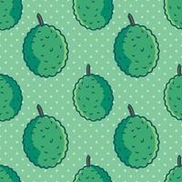 durian fruit seamless pattern illustration vector