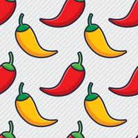 chili seamless pattern illustration vector