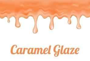 a caramel glaze vector