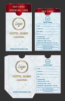 hotel key card holder folder package template vector