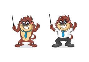 ilustración de diseño de dibujos animados del diablo de tasmania vector