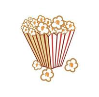 Popcorn in the cup design illustration vector