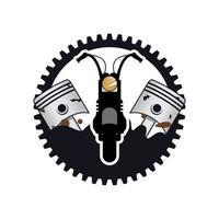 Retro vintage motorcycle design illustration vector
