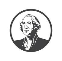George washington logo design vector