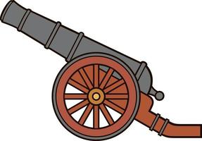Ancient or pirate cannon vector