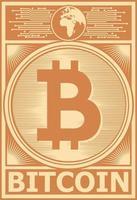 vector de cartel de bitcoin