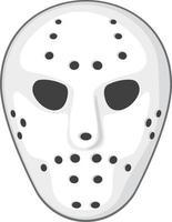 vector de máscara de hockey