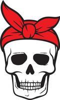 Skull with bandana vector