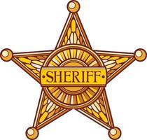 Vector sheriff star
