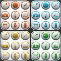 Pregnantcy flat icon buttons set in grey circles vector