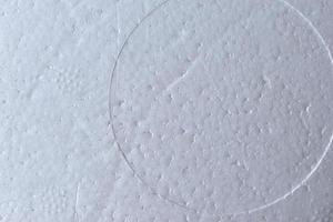 The white surface of the foam from the packaging photo