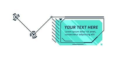 título de llamada de estilo futuro de hud. barra de cuadro de llamada infográfica y plantilla de diseño de marco de información digital moderna. interfaz de interfaz de usuario y elemento de cuadro de texto de interfaz gráfica de usuario. ilustración vectorial