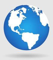 Earth globe planet Vector illustration