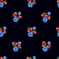 Seamless pattern of berries vector