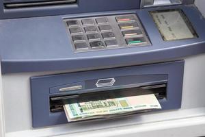 retiro de efectivo en cajeros automáticos foto