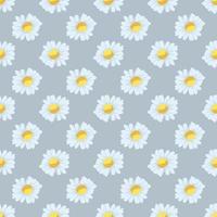 flores de manzanilla de patrones sin fisuras vector