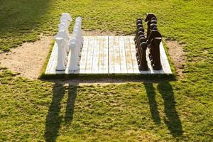 Chess field in a public garden photo