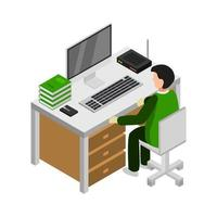 Studying Online Isometric vector