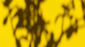 Leaves shadows on yellow pastel paper. Abstract background. Stock photo. photo