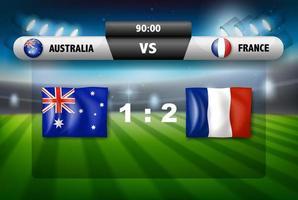 marcador australia vs francia foto